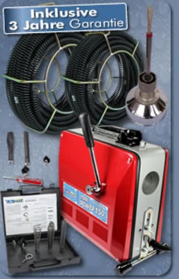 Drexl Rohrreinigungsmaschine MAXI-Power 150, Set 3