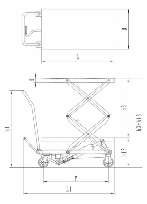 Hydraulik-Doppelscherenhubtische BS 700 D