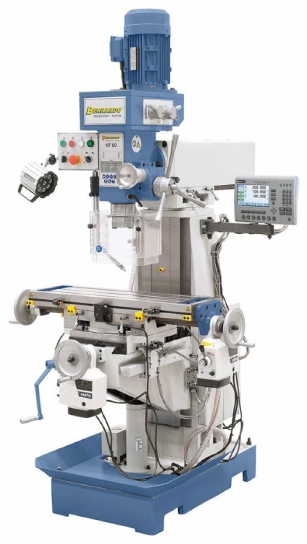 Bohr- und Fräsmaschinen KF 60 inkl. 3-Achs-Digitalanzeige und y-Vorschub