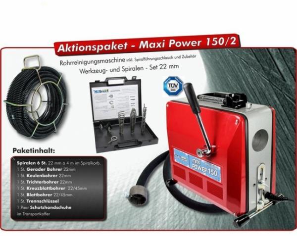Drexl Rohrreinigungsmaschine MAXI-Power 150, Set 2