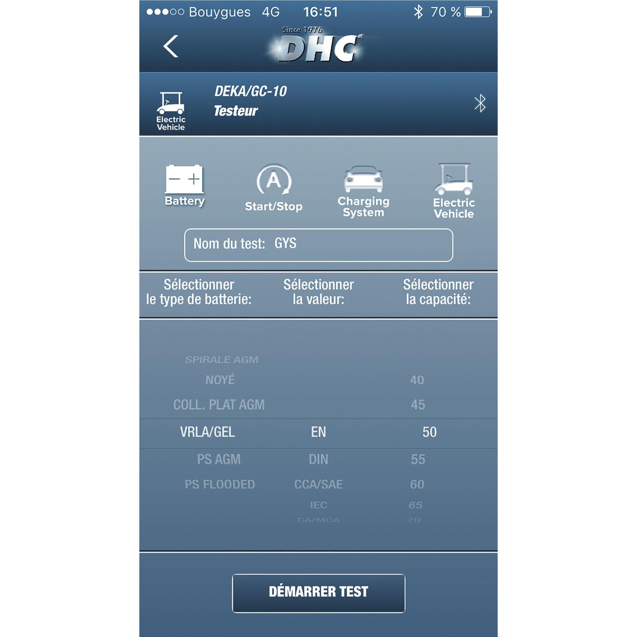 GYS Batterietester Bluetooth BTW 300 DHC 056664