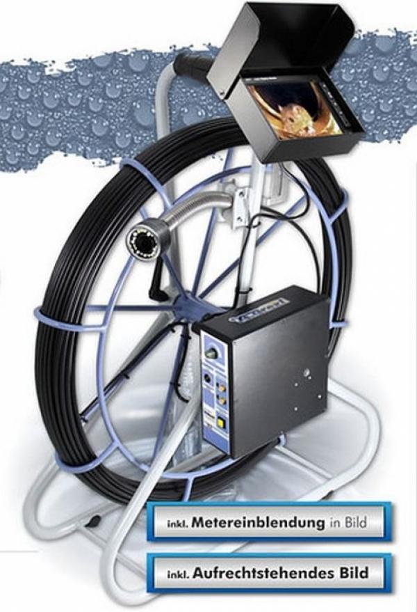 Drexl Kanalkamera - Rohrkamera 4610-H Color, inkl. Metereinblendung Einsatzbereich von 50 - 350 mm