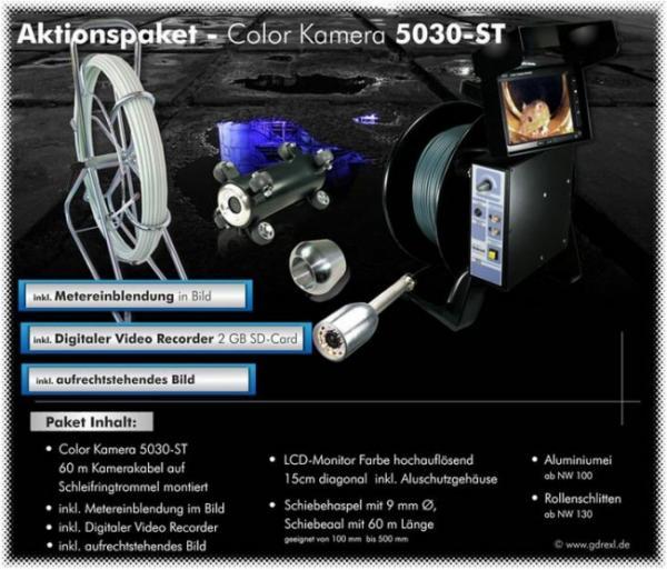 Drexl Color Rohr- u. Kanalinspektionskamera Typ 5030-ST