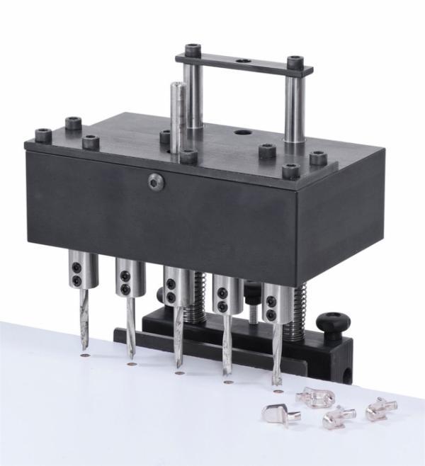 Bohrmasken Reihenbohrkopf 32 mm, mit Aufnahme für Stemmmaschinen