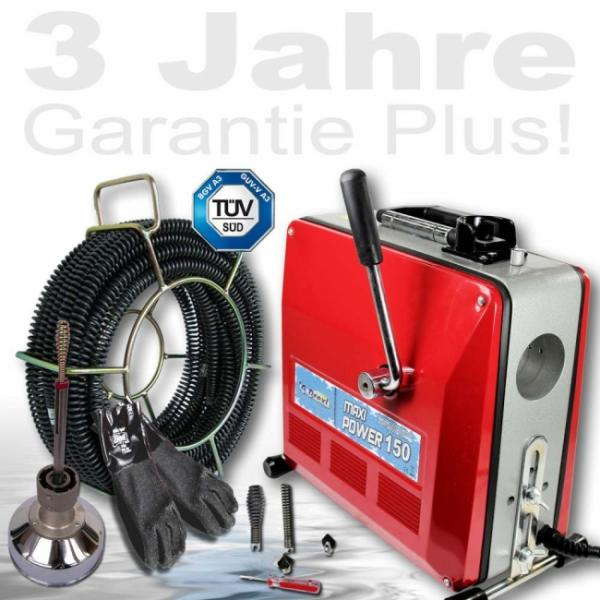 Drexl Rohrreinigungsmaschine MAXI-Power 150, Set 1